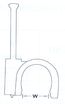 Szegelhető Koax Kábel Bilincs 6-os (min. 100 db rendelhető)