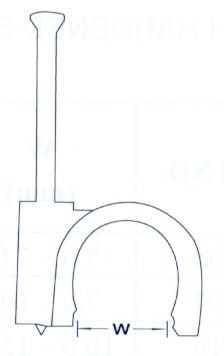 Szegelhető Koax Kábel Bilincs 8-as (min. 100 db rendelhető)