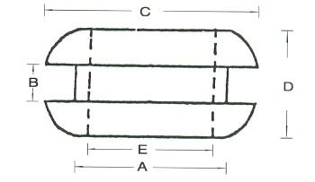 Vezeték védő gumi gyűrű lemezhez /4,8 mm (min. 100 db rendelhető)