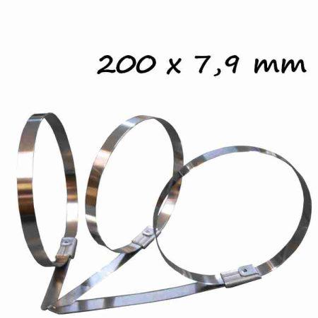 Rozsdamentes acél kötegelő ,200x7.9 mm (min. 100 db rendelhető)
