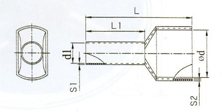 Iker érvéghüvely (2 x 4 mm² x 12 mm) (min. 500 db rendelhető)