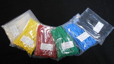 Kék kábelkötegelő, kötegelő ,140X3.6 mm (min. 100 db rendelhető)