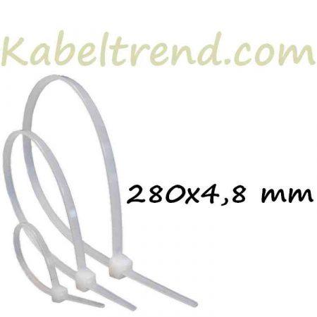 Gyorskötöző, Kábelkötegelő (280x4.8 mm, Natúr) (min.100 db rendelhető)