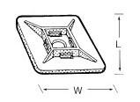 Kötegelő talp , 28X28 mm (min. 100 db rendelhető)